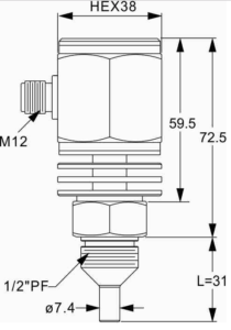 Flödesvakt serie SP för hög temperatur
