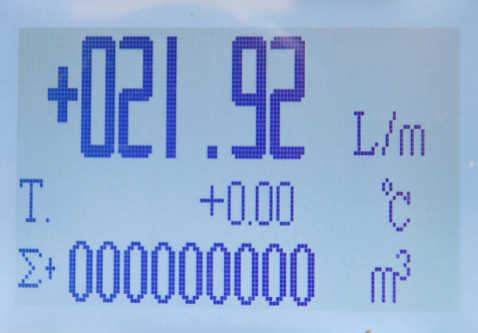 Display Induktiv Flödesmätare RBEF-E Mini