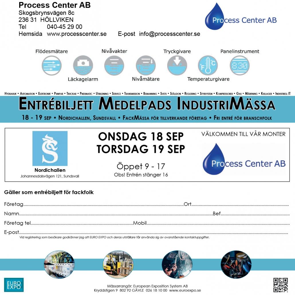 Biljett till Industrimässa i Sundsvall