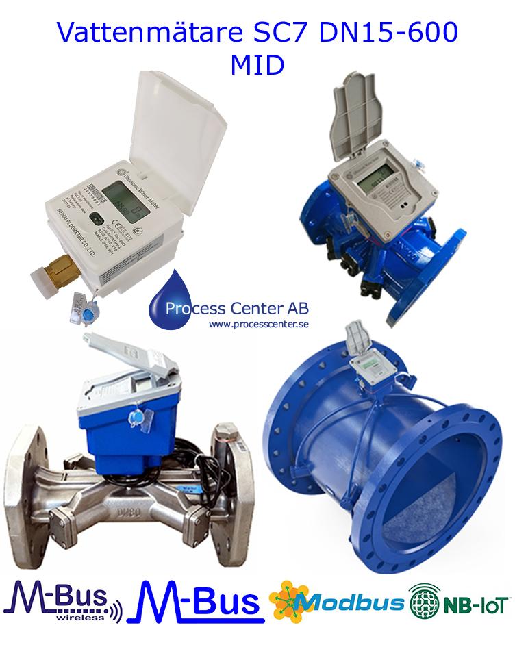 MID godkända Vattenmätare SC7