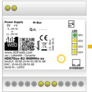 Protokollomvandlare LoRaWAN-Modbus RS485